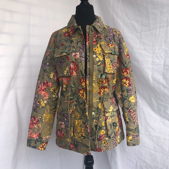 H&M NWT | Floral Cargo Jacket